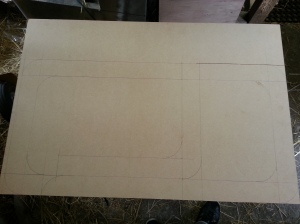 MDF board with drawings
