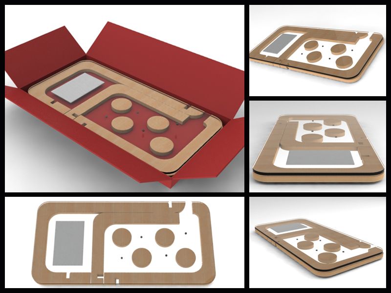 Coffee table flatpack collage
